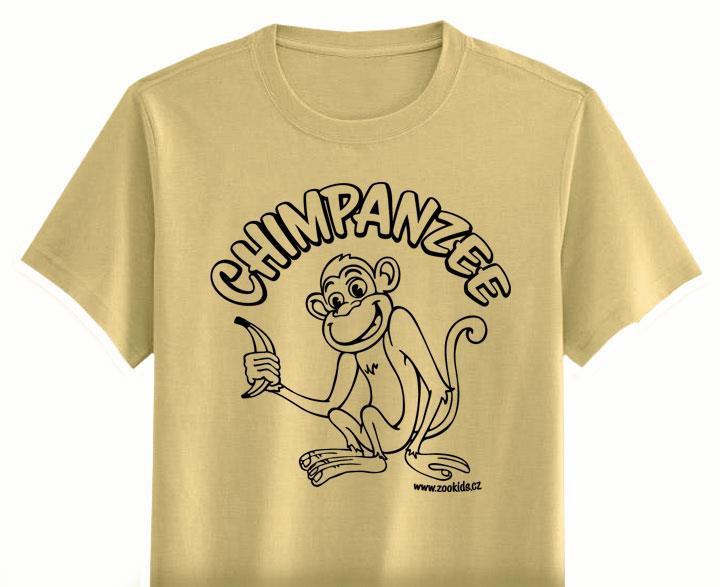 7883b96c61f3 Vybarvovací tričko s potiskem OPIČKA béžové